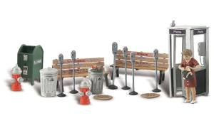 street-accessories-benches-fire-hydrants-parking-meters-etc-o-scale-woodland-scenics