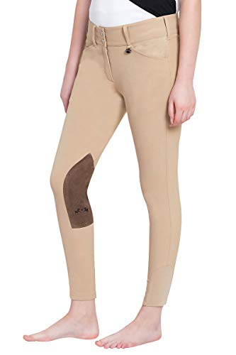 Equine Couture Women's Coolmax Champion Front Zip Breech with CS2 Bottom, Safari, 28 ()