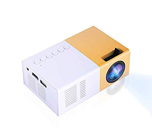 Mini LED-projector, Mini Home Cinema-projector Draagbare LED-projector HD-ondersteuning 1080P HDMI VGA AV USB…