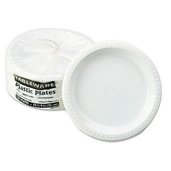 (Tablemate® Plastic Dinnerware PLATE,10.25