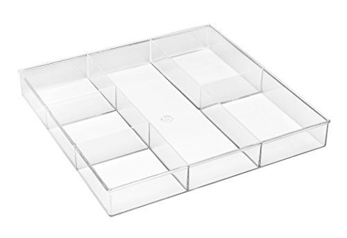 Whitmor 6-Section Drawer Organizer - Clear (Drawer Organizer Of 6 Set)