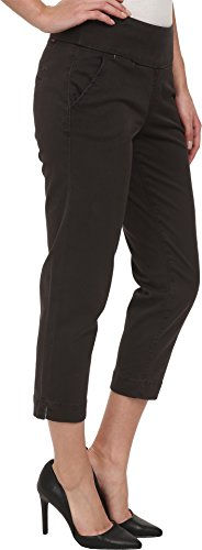 Jag Jeans Women's Hope Slim Ankle Pull On Twill Crop Pant, Cinder, 6