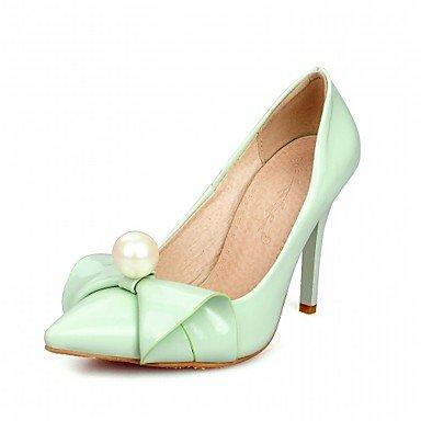 Le donne eleganti sandali SEXY DONNA PRIMAVERA tacchi cadono Comfort similpelle Office & Carriera Abito casual Stiletto Heel Bowknot imitazione PearlBlack verde rosa rosso , rosso , us5.5 / EU37 / uk4