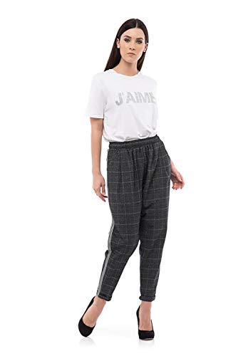 Donna J'AIME' Unica Pantalone PN Size Over 8713J HOSqa