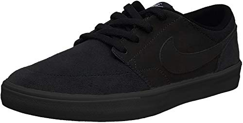 Nike Men's SB Portmore II Solar Skate Shoe Black/Black 10.5 M US (Shoes Free Nike Sb)