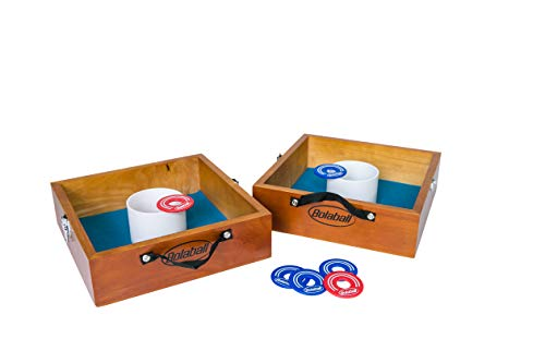Bolaball Solid Wood All-Weather Washer Toss Game- Outdoor Family Horseshoes Style Game, Perfect for Parties, Camping, Tailgating
