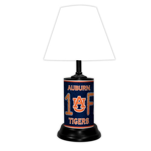 Auburn Tigers NCAA #1 Fan Team Logo License Plate made Desk Lamp with (Tigers College Desk Lamp)