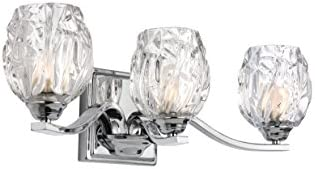 Feiss VS22703CH Three Kalli VS22703 3 Bathroom Vanity Light, Chrome