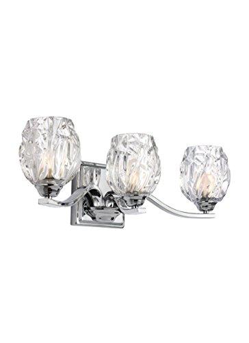 Feiss VS22703CH Three Kalli VS22703 3 Bathroom Vanity Light, ()