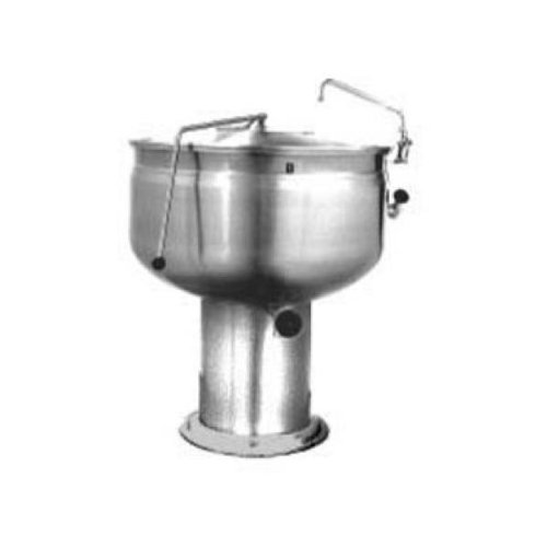 Market Forge F-40PF Stationary Direct Steam Kettle with 40 Gallon Capacity, Full Steam Jacket & Pedestal Base - Pedestal Kettle