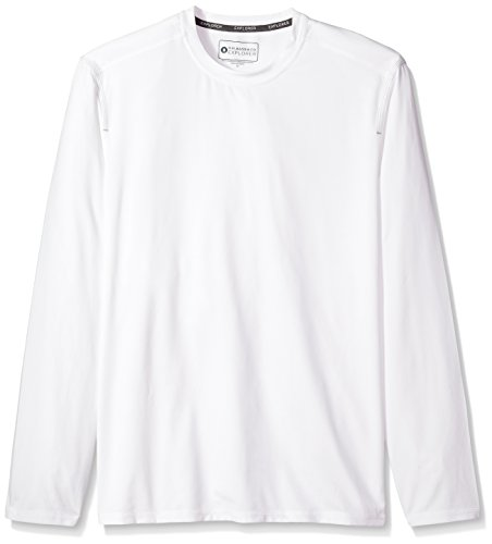 G.H. Bass & Co. Men's Explorer Long Sleeve Crewneck T-Shirt, Bright White, Medium