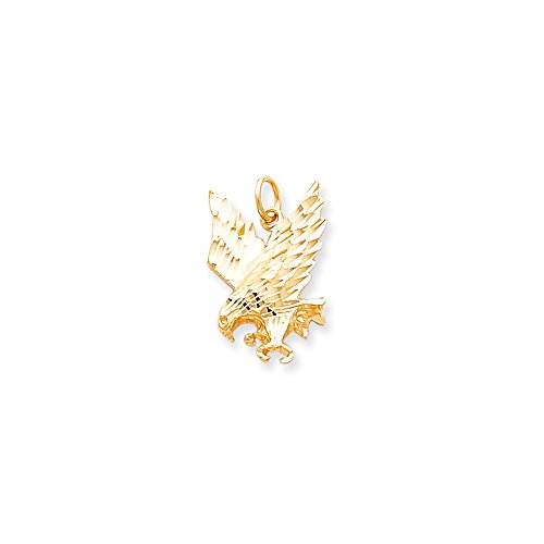 Solid 10k Yellow Gold EAGLE Pendant Charm (16mm x ()