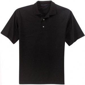 Big Mens Pima Cotton Fine Knit Sport Shirt By Port Authority Signature    4Xl  4X    Black
