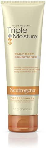 Neutrogena Triple Moisture Daily Deep Conditioner for Extra Dry Hair, Damaged & Over-Processed Hair, Intensive Hydrating Conditioner with Olive, Meadowfoam & Sweet Almond, 8.5 fl. oz (Pack of 3)