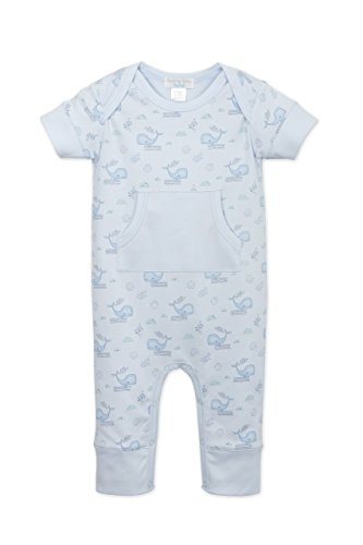 Feather Baby Boys Clothes Pima Cotton Short Sleeve Kangaroo One-Piece Jumpsuit Romper Mom Baby Ultrasoft Onesie