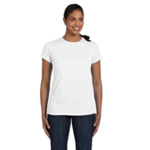 Hanes Women`s Relaxed Fit Jersey ComfortSoft® Crewneck T-Shirt, M-White
