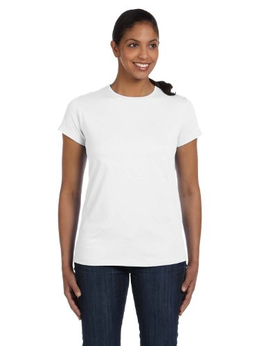 Hanes Women`s Relaxed Fit Jersey ComfortSoft® Crewneck T-Shirt, (Plain Crewneck T-shirt)