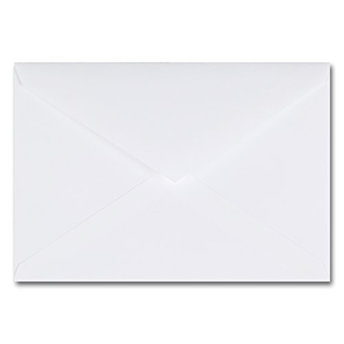 Fine Impressions 250-Count Jumbo Outer Envelopes, 5 7/16 x 7 7/8, Pointed Flap (RRSJUMOUTW)