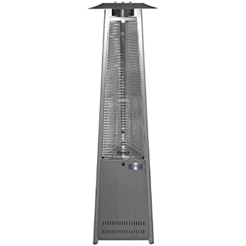Charming Island Fire U0026 Patio TF041SSH LP Tower Of Fire Propane Stainless Steel Patio  Heater