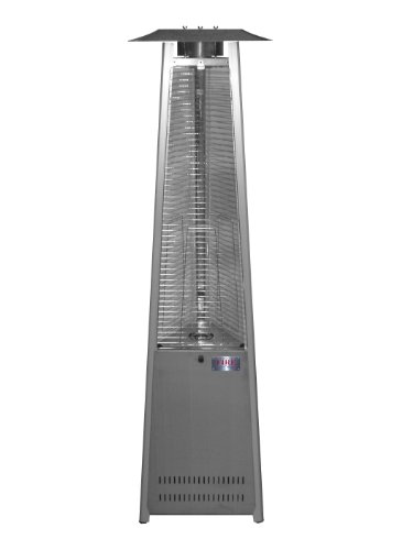 Patio Heater Stainless Steel Lp (Island Fire & Patio TF041SSH-LP Tower of Fire Propane Stainless Steel Patio Heater)