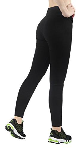 deportivos Fitness para 4how Pack Yoga Jogging Black Bike mujer Pantalones 2 OFISx