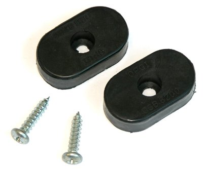 (Compatible With 1966-1972 GM A X B Body Interior Bucket Seat Frame Back Stop Rubber Bumpers w Screws)