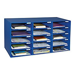 Classroom Keepers 15-Slot Mailbox, Blue (001308)