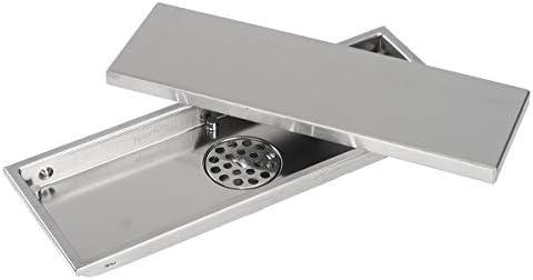 Global Brands Online 304 - Canal de desagüe para cuarto de baño (invisible, acero inoxidable): Amazon.es: Hogar