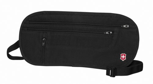 Victorinox Deluxe Concealed Security Belt,Black - Deluxe Cotton Black Belt