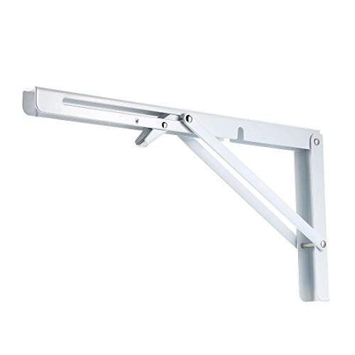 uxcell Folding Bracket 16 inch 400mm for Shelf Table Desk Wall Mounted Support Collapsible Long Release Arm Space Saving…