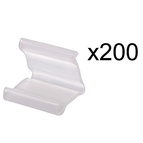 RETON 200 Pieces of Clear Plastic Small Balloon Clips Tie for Sealing -