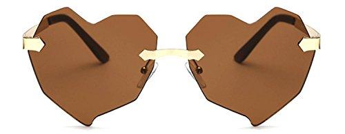 Stylish Heart Shaped Metal Frame Aviator Colored Lens Sunglasses (8134_Brown_Lens, - Amazon Colored Sunglasses
