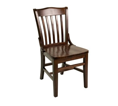 Florida Seating FLS-Series Side Chair school house/library slat back - FLS-02S SS