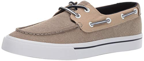 Tommy Hilfiger Men's Pharis Boat Shoe, Lt Natural, 11 M US