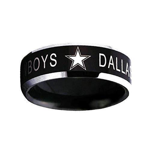 Ffpazig No. 7 Dallas Cowboys Logo NFL Team Men's Ring Ring 1 Pack