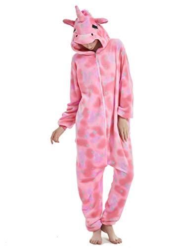 Unisex Adult Pajamas Christmas Costume Snorlax One Piece Pajamas Stitch Onesies Cosplay Pink Star Unicorn S -