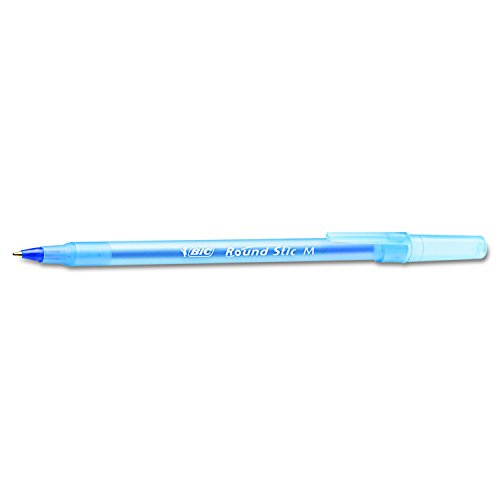 BIC Round Stic Xtra Life Ballpoint Pen, Medium Point (1.0mm), Blue, 60-Count (GSM609-BLUE)