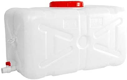 ++ 300L Large Capacity Environmental Protection Plastic Bucket Horizontal Square Water Storage Tank Water Tank with Cover and Valve