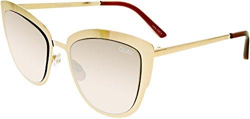 Quay Women's Supergirl Sunglasses, Gold/Light Gold, One - Cat Quay Sunglasses Eye