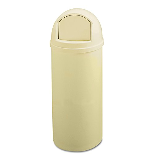 Rubbermaid Commercial Marshall Classic Trash Can, Round, 25 Gallon, Beige, FG817088BEIG by Rubbermaid Commercial Products