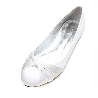 Mujer Corbata de Satén para mujer 10 Zapatos Zapatos El de eu41 madre de mejor Dedo Volantes redondo Tacón regalo Verano Plano y Flor Bailarina boda 5 Primavera Confort uk7 8 5 Lazo Satén us9 8wqY6gq