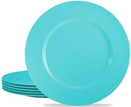 Calypso Basics by Reston Lloyd Melamine Dinner Plate, Set of 6, Turquoise