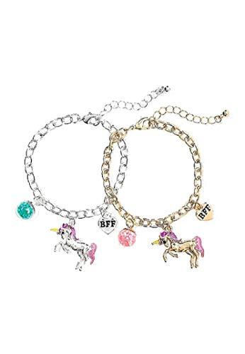 F Best Friends 2pc & 3pc Bracelet Sets (Unicorn Glitter Globe) ()