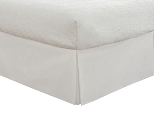 Tailored Bed Skirt Solid Dust Ruffle Full Size   White