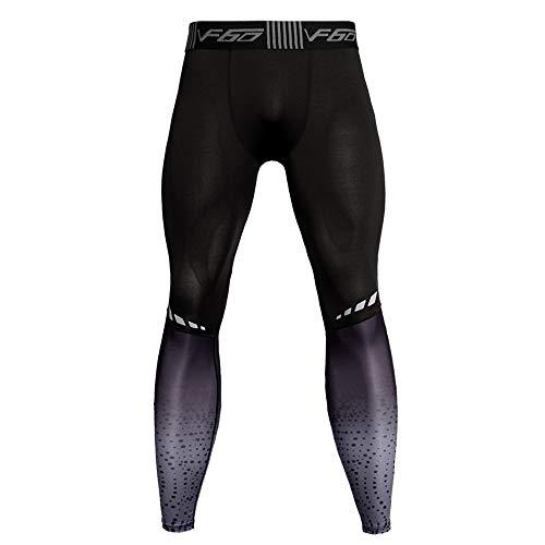 - iZHH Mens Printed Trousers Leggings Fitness Sports Running Yoga Athletic Pants(Z-A-Gray,32)