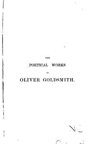 The Poetical Works of Oliver Goldsmith pdf epub