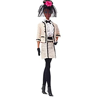 Barbie Fashion Model Collection Best to A Tea Doll, 12.5-in Signature Doll with Silkstone Body Wearing Cream-Colored Boucle Suit, with Certificate of Authenticity