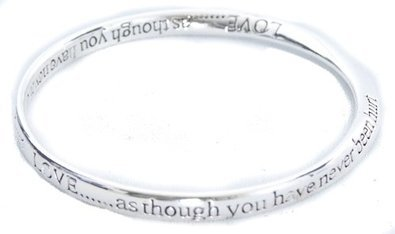Equilibrium Silver Plated Bangle - Believe In Yourself NsvT7Qa