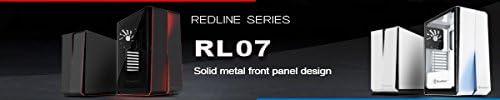 SilverStone SST-RL07B-G Carcasa de ordenador para juego Red Line Midi Torre ATX Rendimiento silencioso con alto flujo de aire color negro