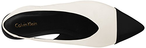 Toe White M Klein Calvin US Alannah Womens Flat Pointed Black 7 Soft BITqOg7w